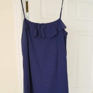 Blue Spaghetti Strap Summer Dress